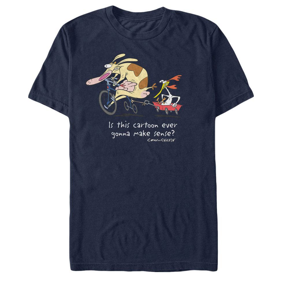 Cow & Chicken Show Makes No Sense Blue T-Shirt
