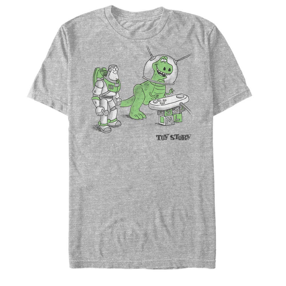 Disney Pixar Toy Story 1-3 Let's Play Gray T-Shirt