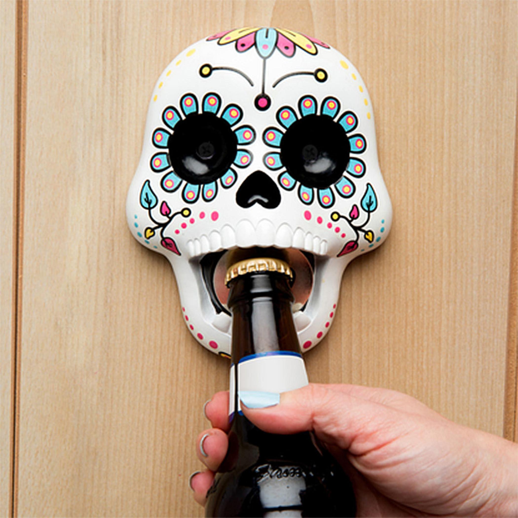 Sugar Skull Wall Mounted Bottle Opener
