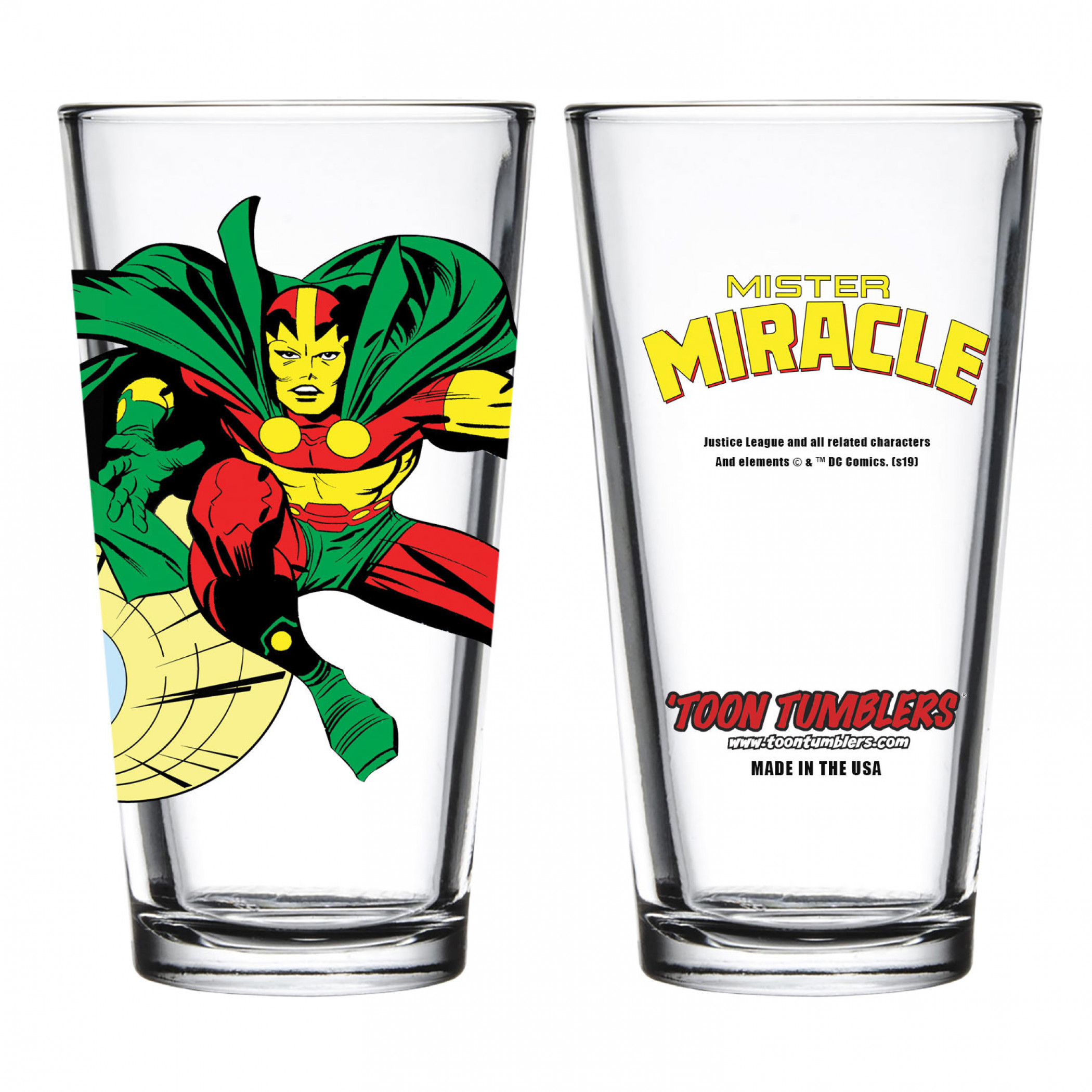 DC Comics Mister Miracle Pint Glass