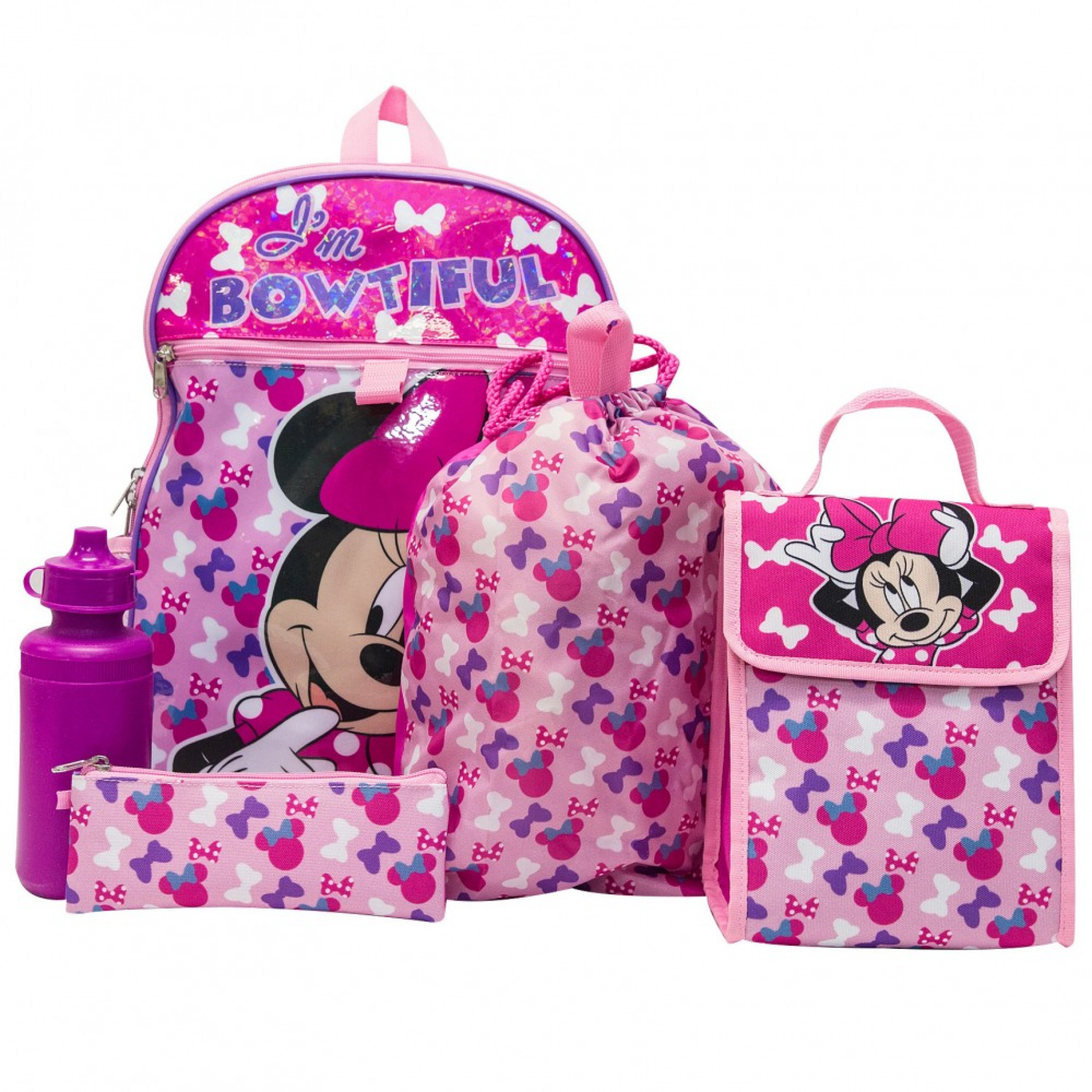 Minnie Mouse 5-Piece Backpack Set