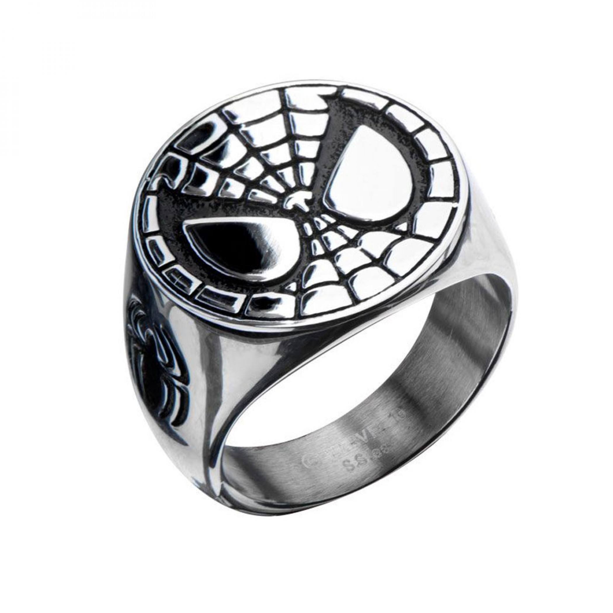Spider-Man Face Stainless Steel Silver Ring