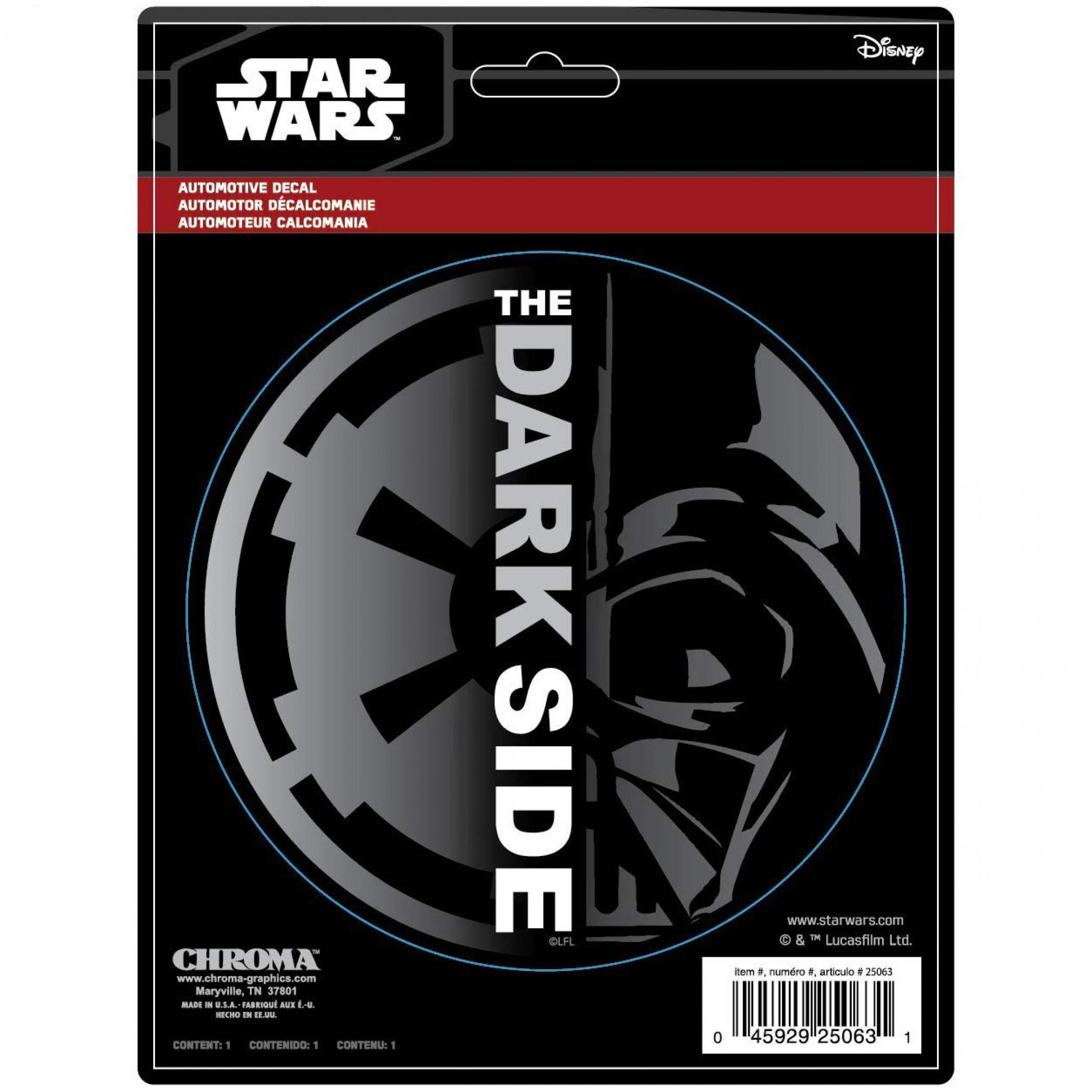 Star Wars Dark Side Darth Vader Car Emblem