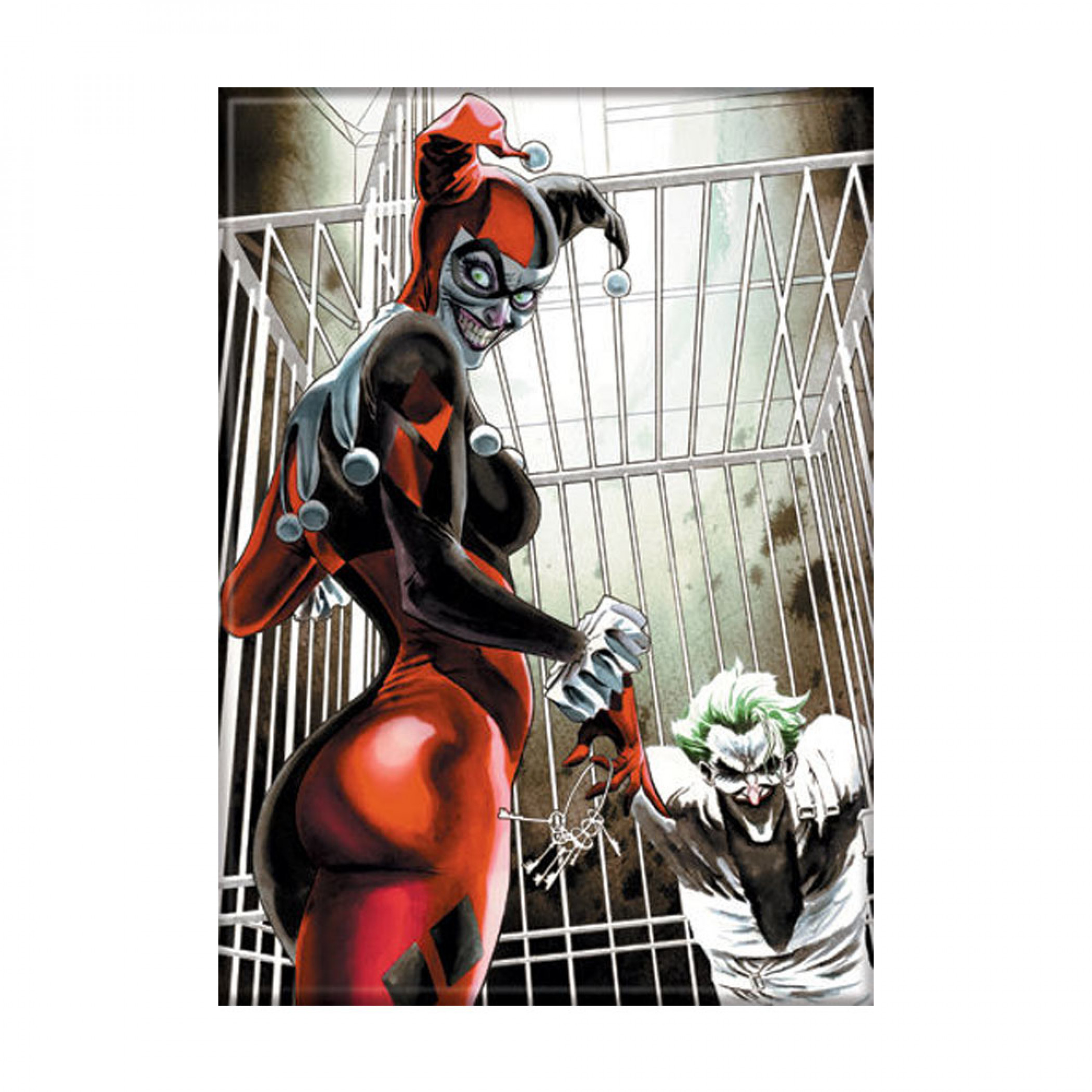 Harley with Joker in Cage Photo Magnet