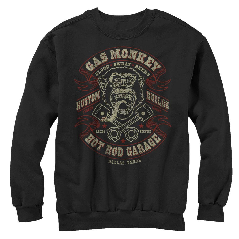 Gas Monkey Garage Blood Sweat Beers Black Long Sleeve T-Shirt