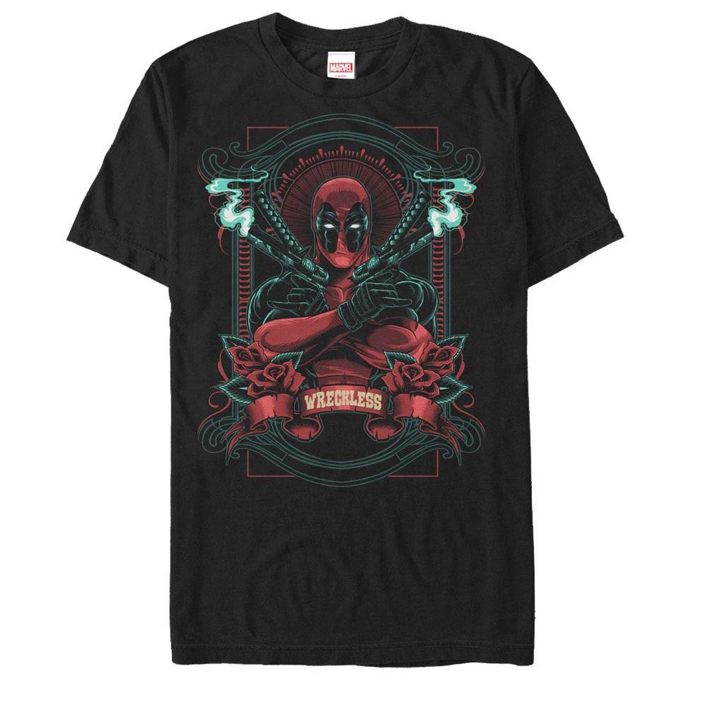 Deadpool Wreckless Men's Black T-Shirt