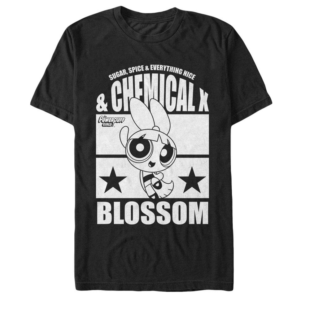 Power Puff Girls Chemical X Blossom Black T-Shirt