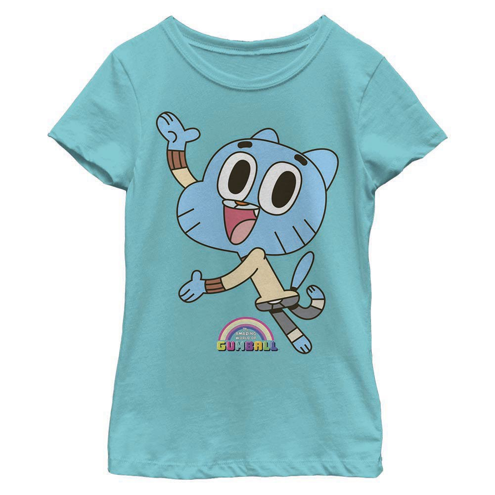 Gumball Cat Logo Blue Youth Girls T-Shirt