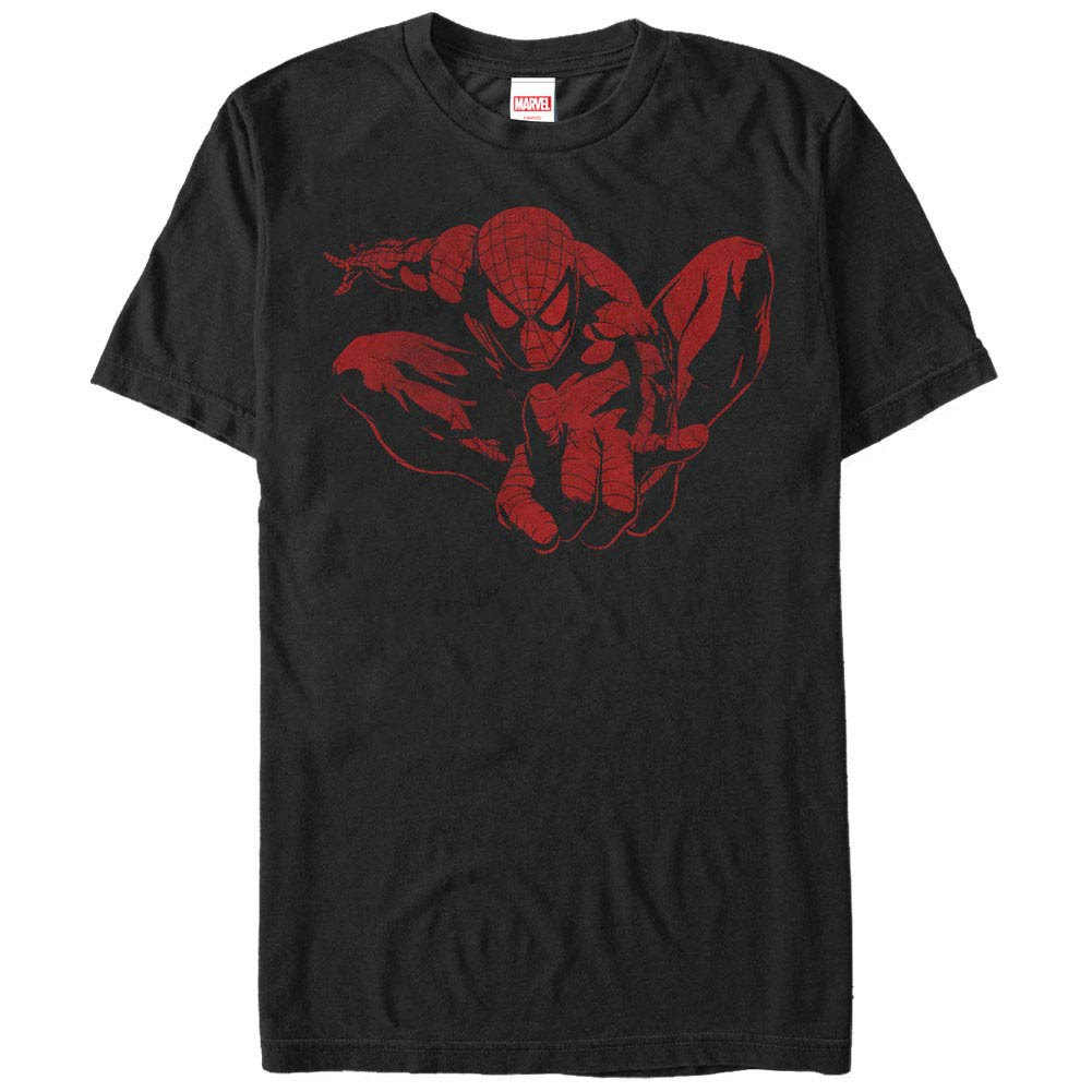 Spider-Man Spider Leap Tonal Men's Black T-Shirt