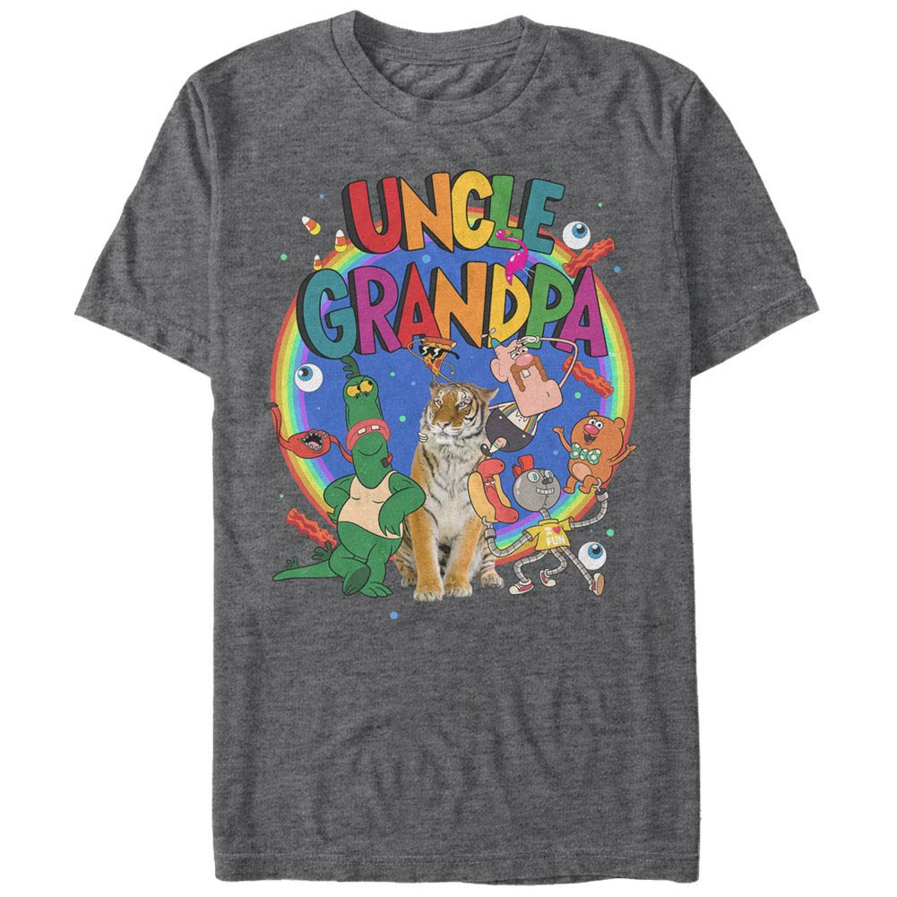 Uncle Grandpa Uncle Grandpa Cast Gray T-Shirt