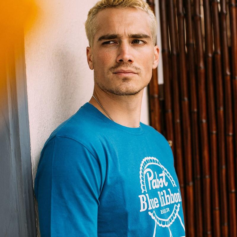 Pabst Blue Ribbon Royal Blue Logo Men's T-Shirt