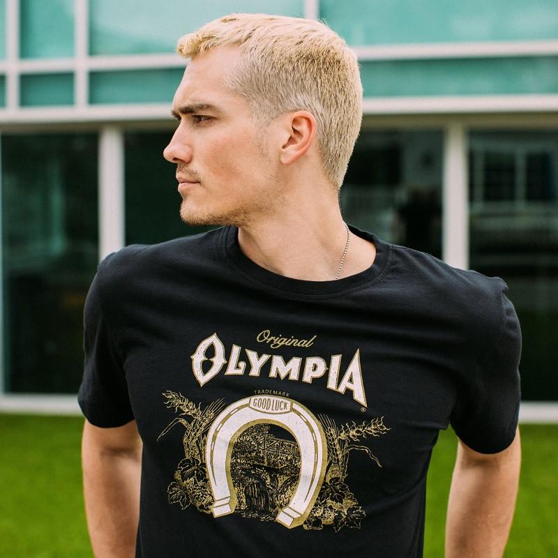 Olympia Beer Logo Men's Black T-Shirt