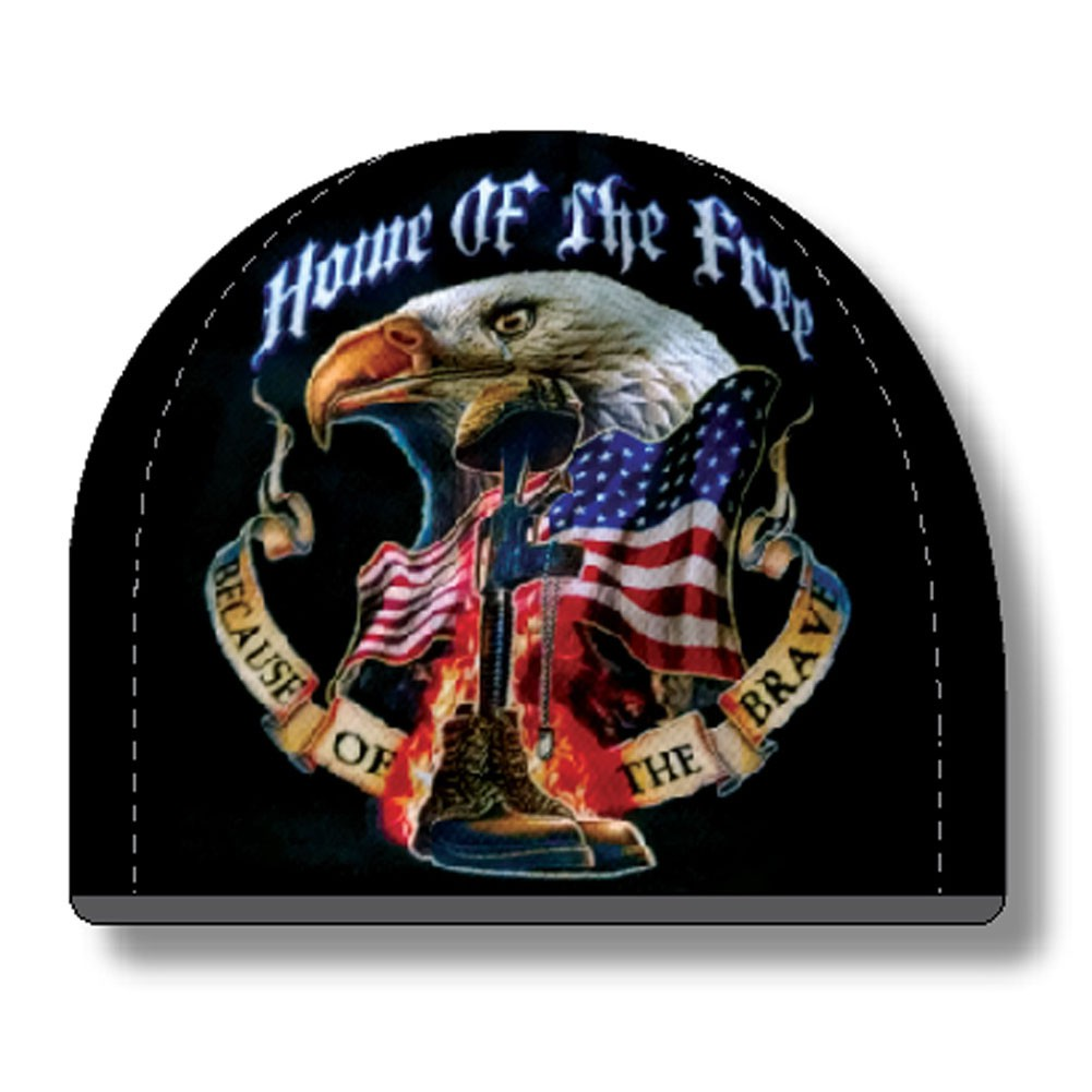 USA Patriotic Home Of The Free Black Hat Beanie