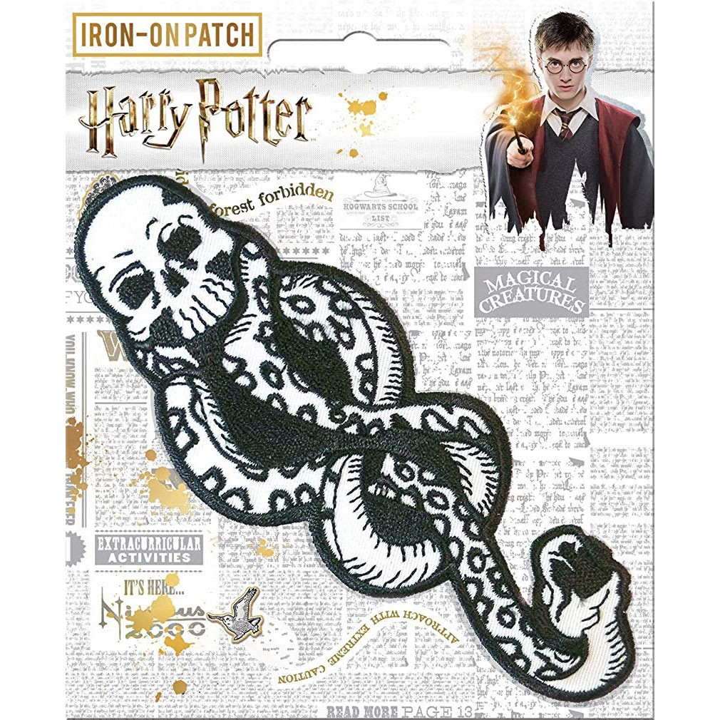 Harry Potter Black And White Death Mark Patch