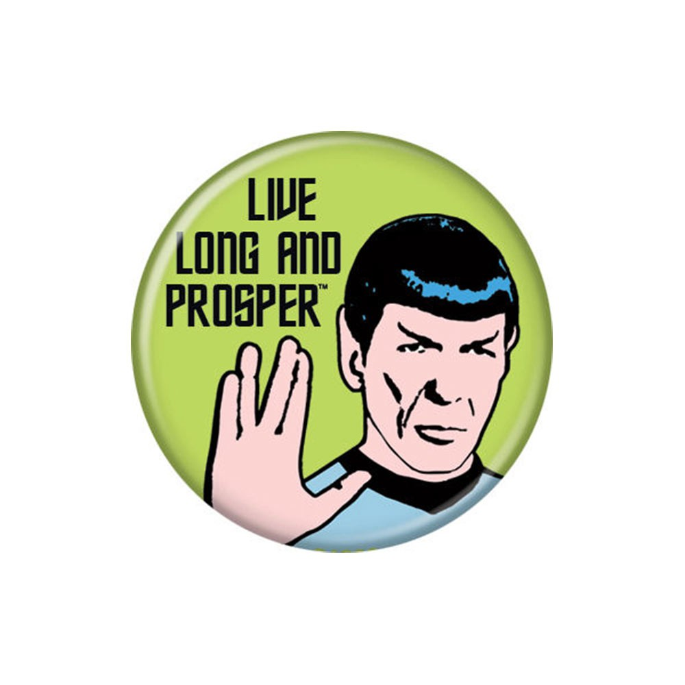 Star Trek Live Long And Prosper Green Button