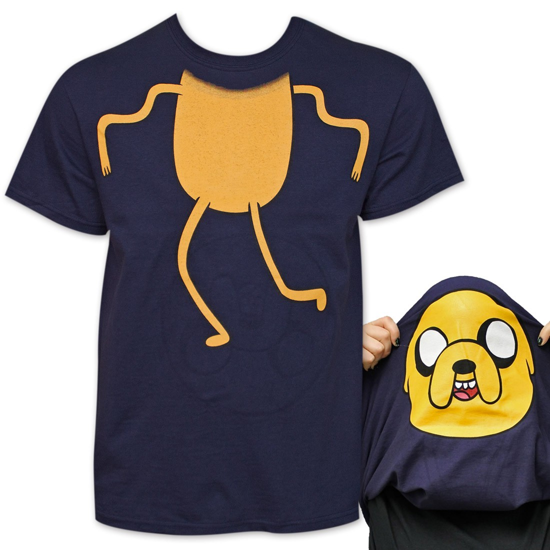 Adventure Time Jake Flip-Up Reversible TShirt - Blue