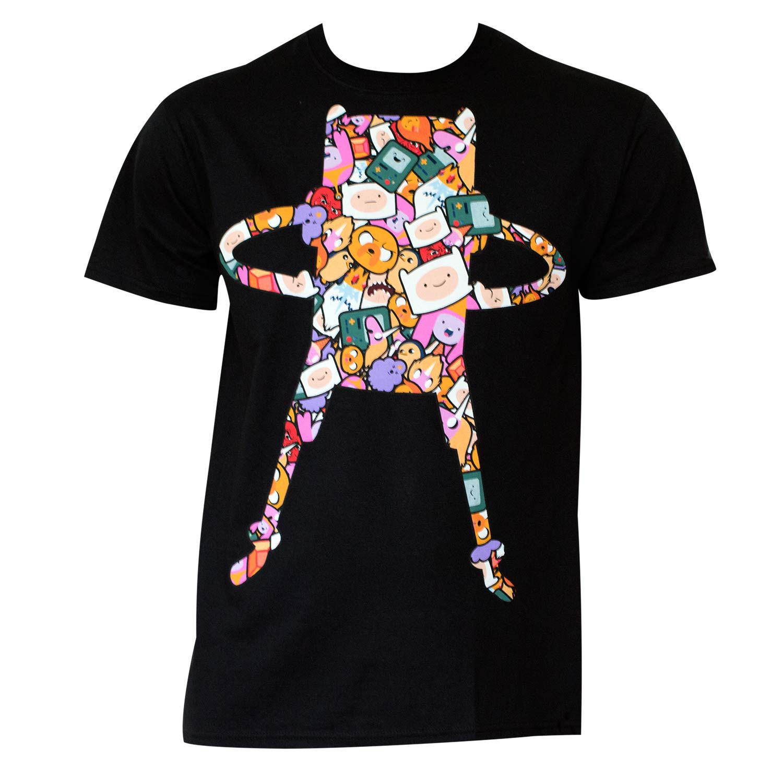 Men's Cotton Adventure Time Super Pop Finn Pattern T-Shirt