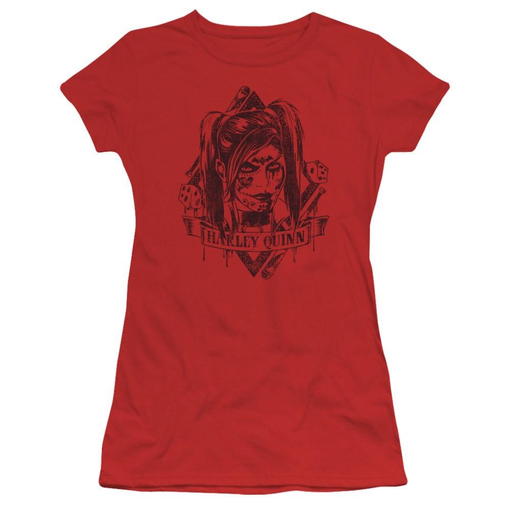 Harley Quinn Diamond Dice Women's Red Tshirt