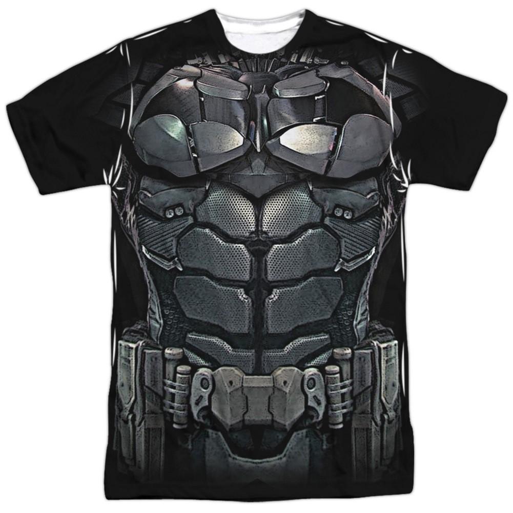 Batman Uniform Front and Back Print Men's Black Costume T-Shirt