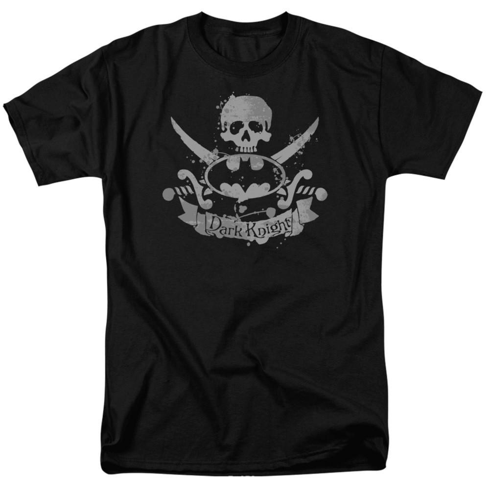 Batman Crossed Swords Logo Black Tshirt