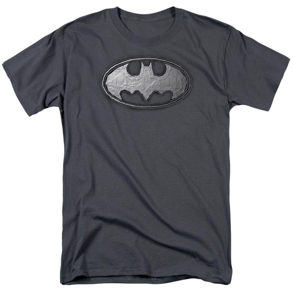 Batman Duct Tape Logo Grey Tshirt
