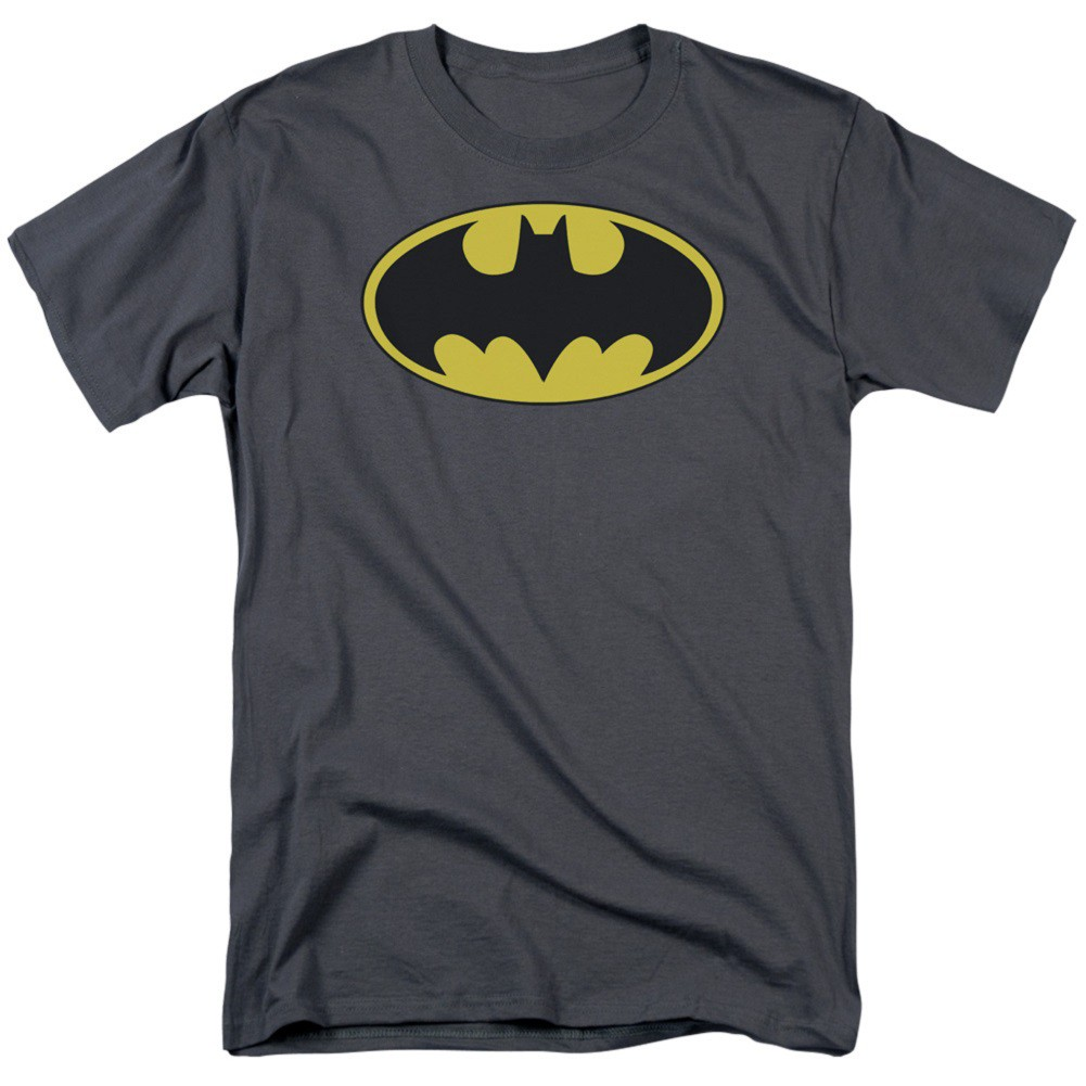 Batman Classic Bat Logo Men's Grey T-Shirt