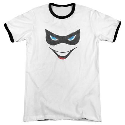 Harley Quinn Face Ringer Tshirt