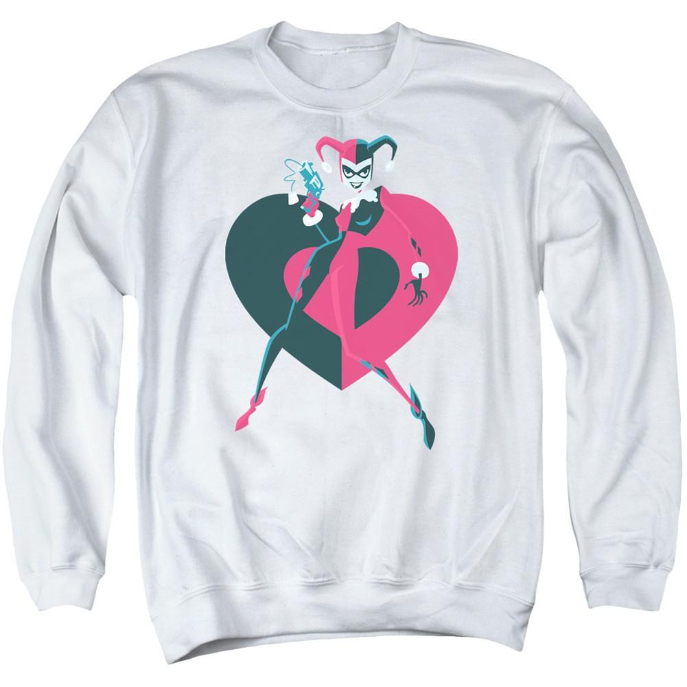 Harley Quinn Heart Crewneck Sweatshirt