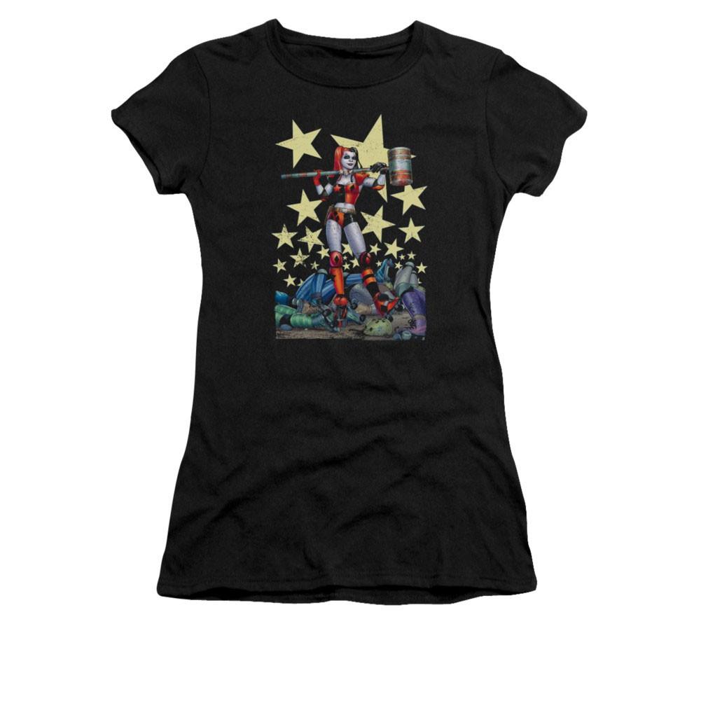 Batman Harley Quinn Juniors Black Hammer Time Tee Shirt