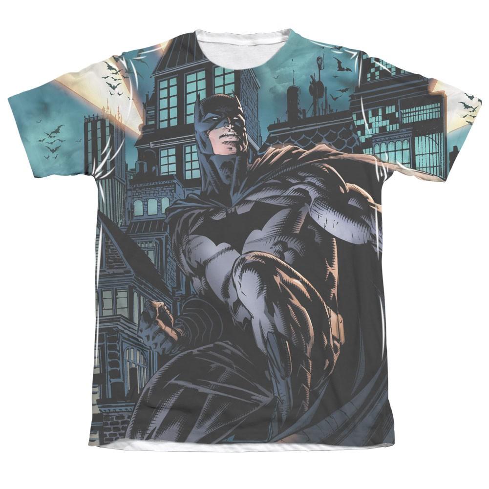 Batman Men's Black Coming For You Sublimation T-Shirt