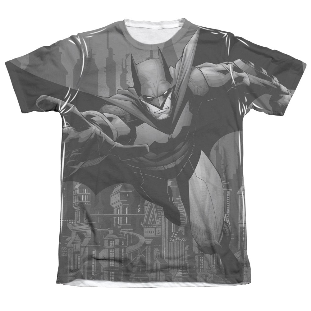 Batman Men's Gray Race Sublimation Tee Shirt