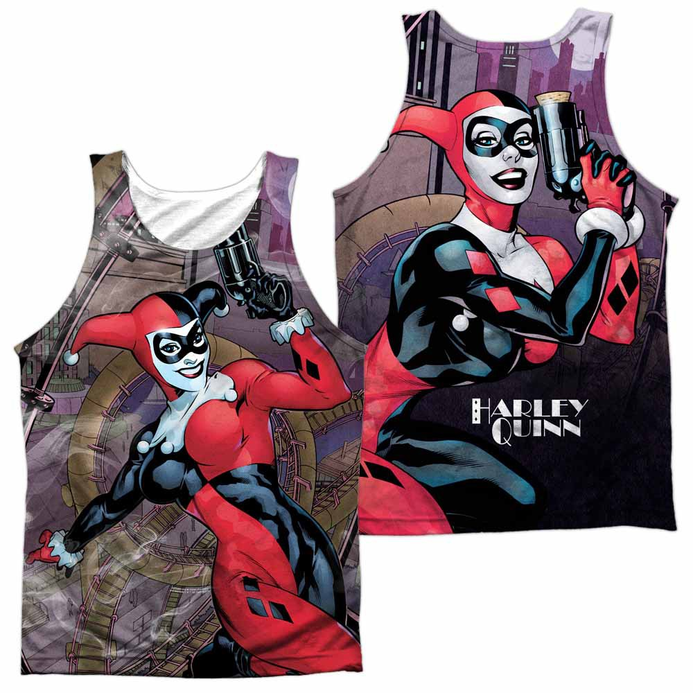 Harley Quinn Roller Coaster Of Love Sublimation Tank Top