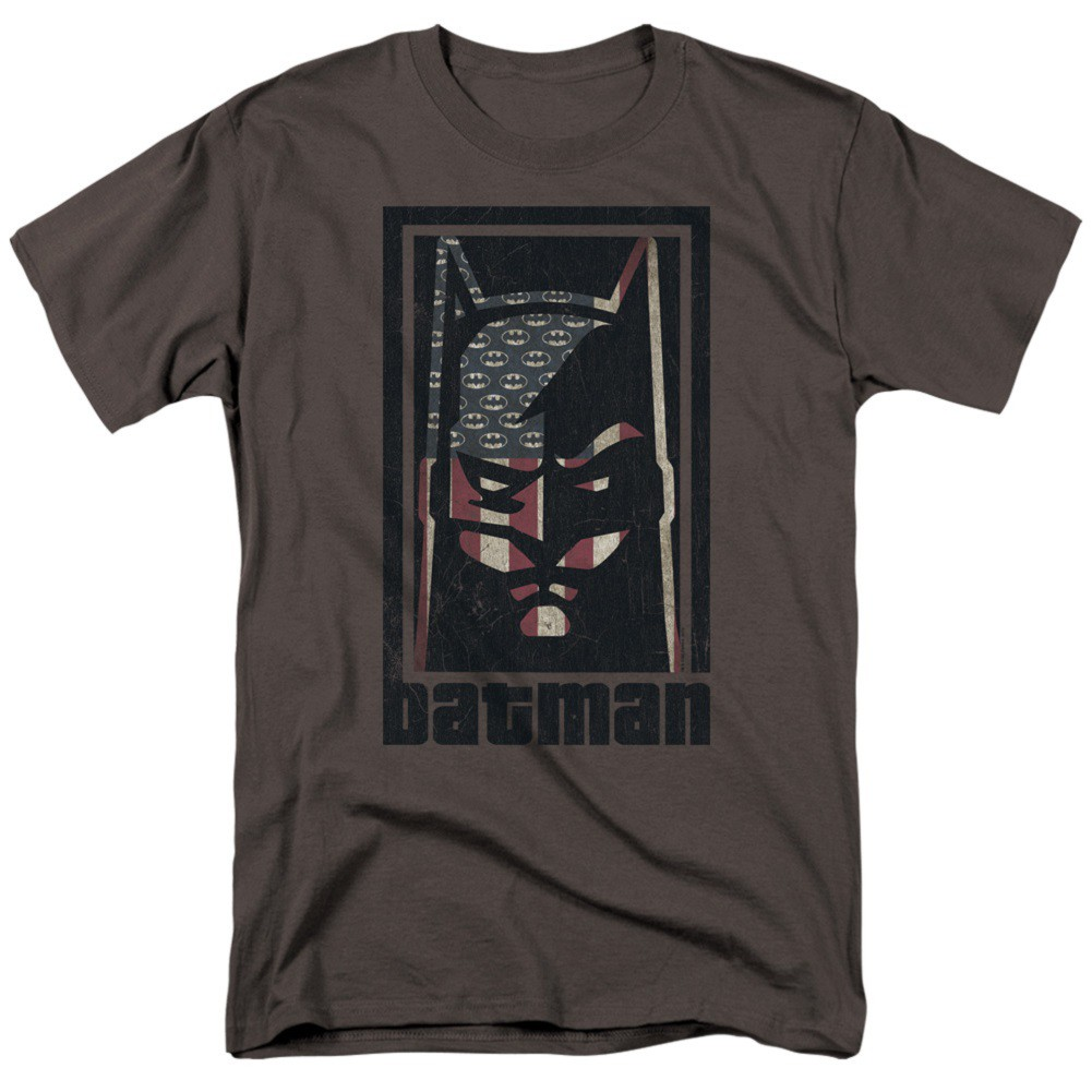 Batman American Hero Logo Flag Men's T-Shirt