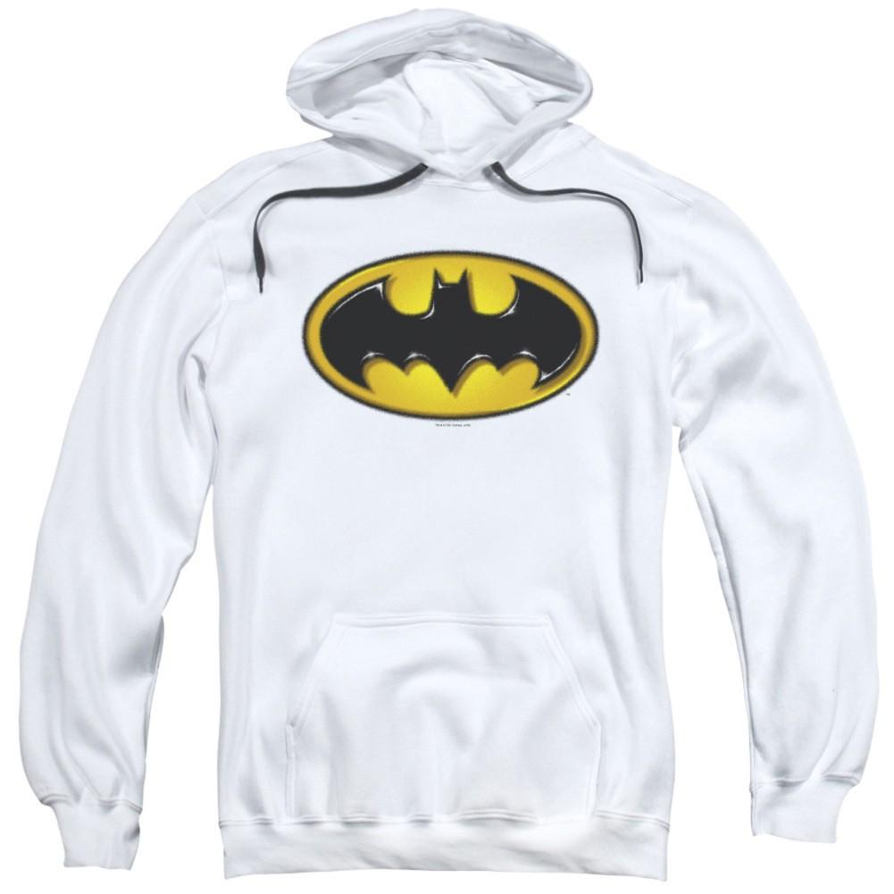 Batman Airbrushed Logo White Hoodie