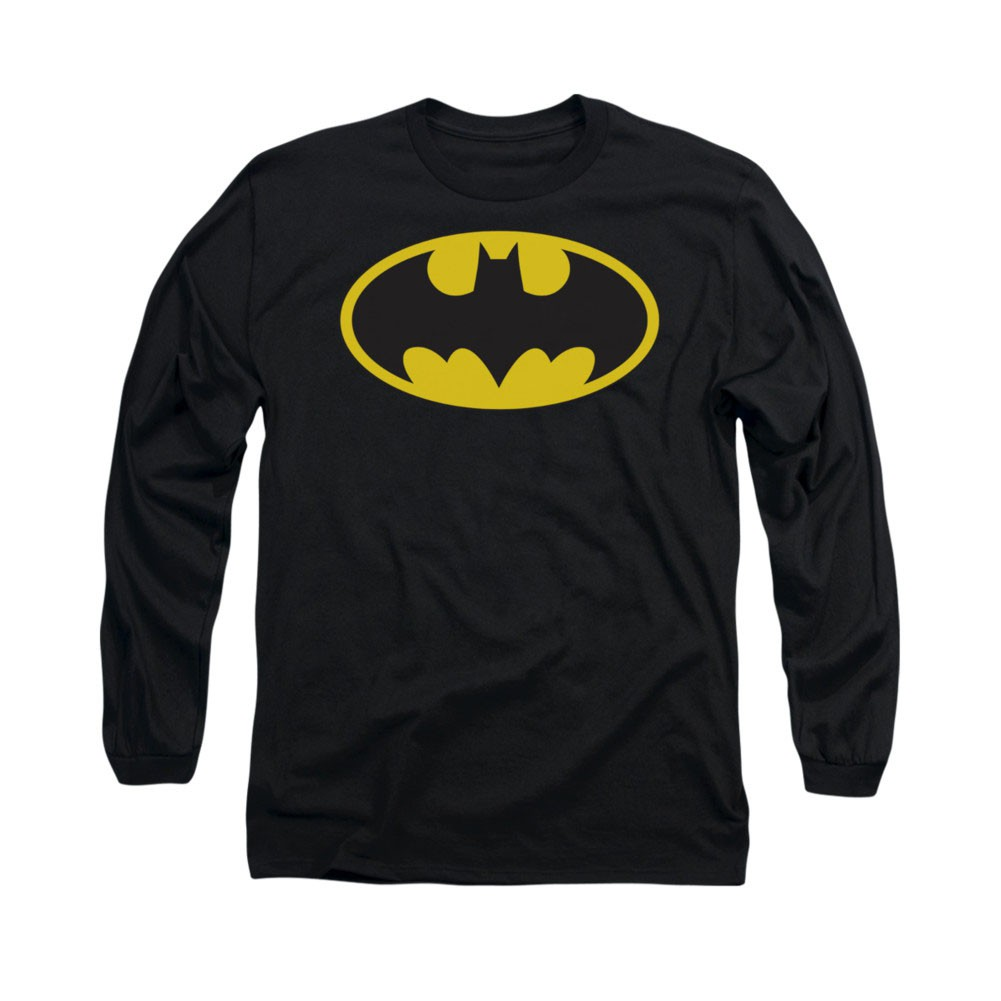 Batman Classic Logo Black Long Sleeve T-Shirt