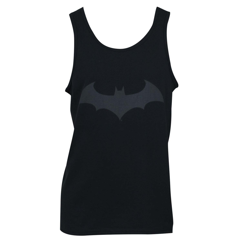 Batman Black On Black Bat Logo Tank Top