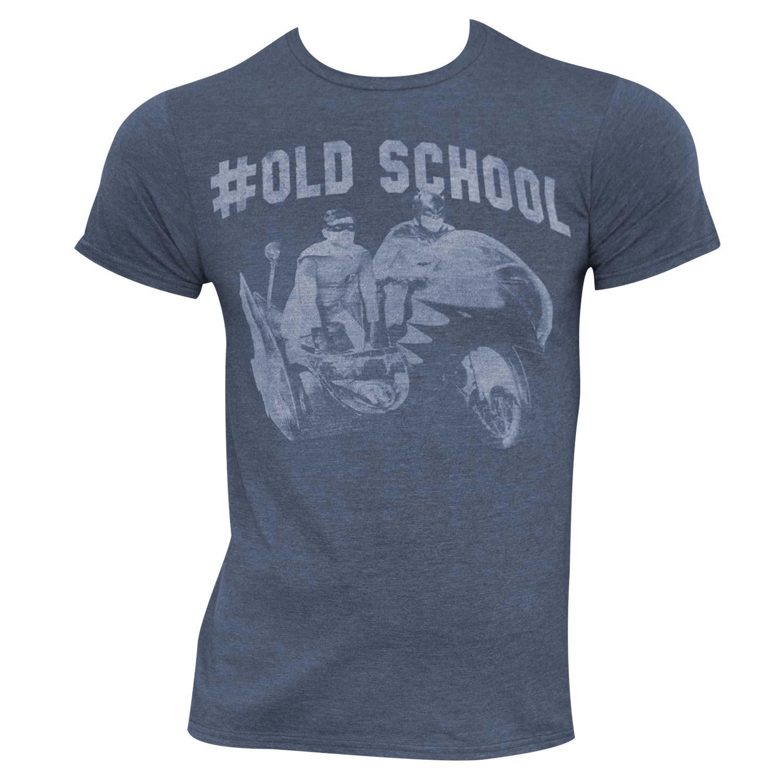 Batman Heather Blue #Old School Tee Shirt