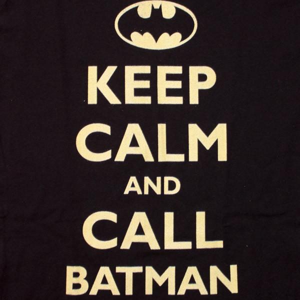 Batman Keep Calm Women's Black T-Shirt