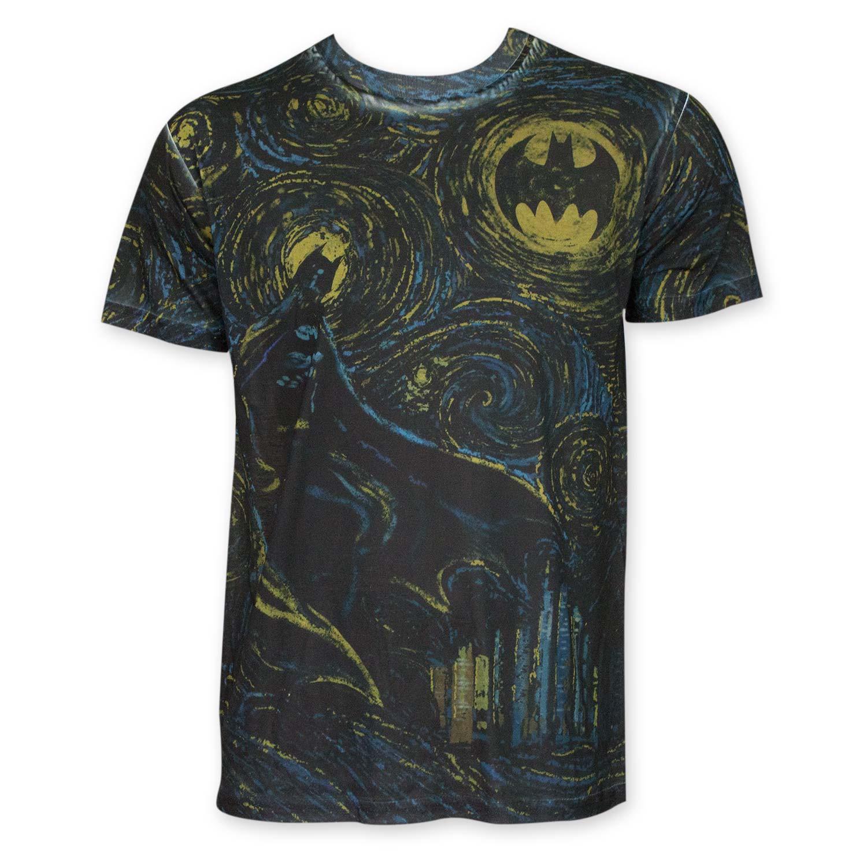 Batman Men's Sublimated Starry Knight Tee Shirt