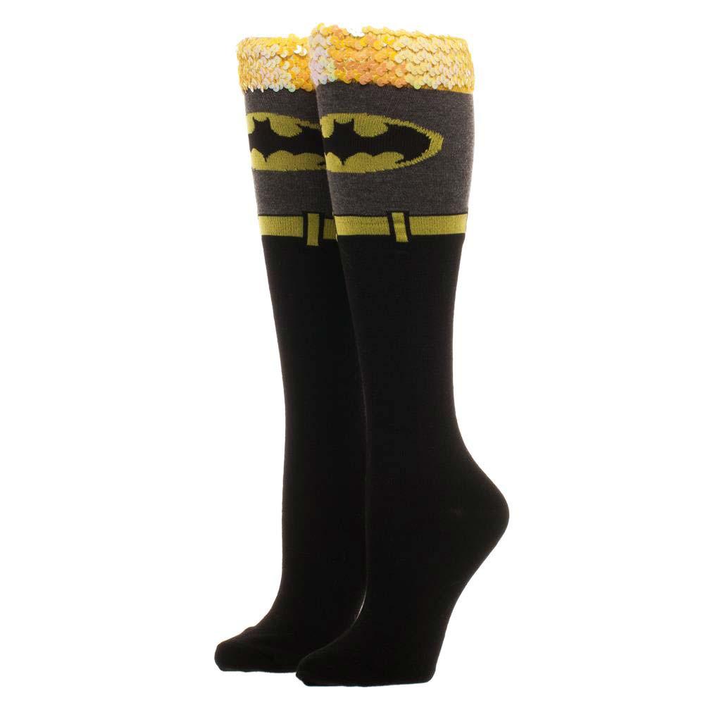 Batman Knee High Sequin Women's Socks
