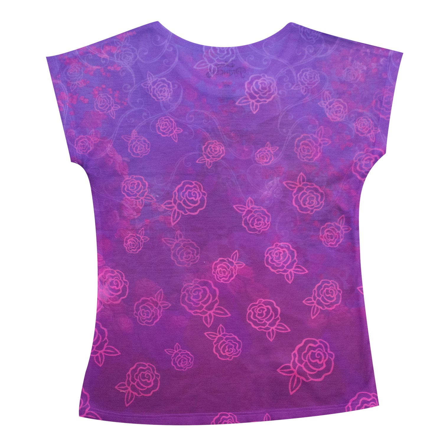 Beauty And The Beast Belle Youth Flower Tee Shirt