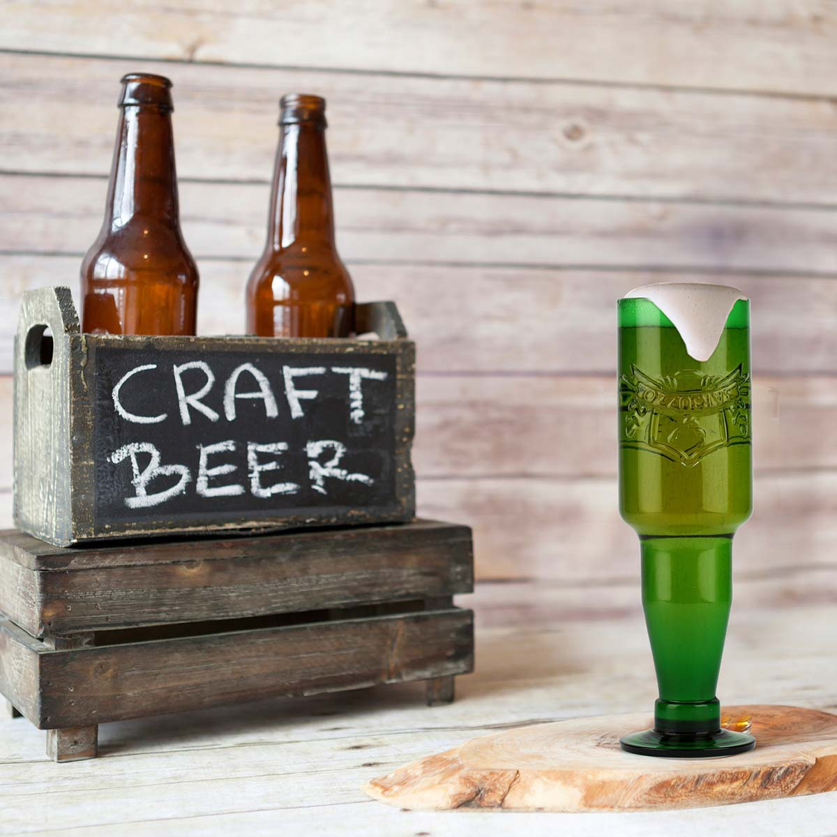 Craft Draft Repurposed Beer Bottle Glass