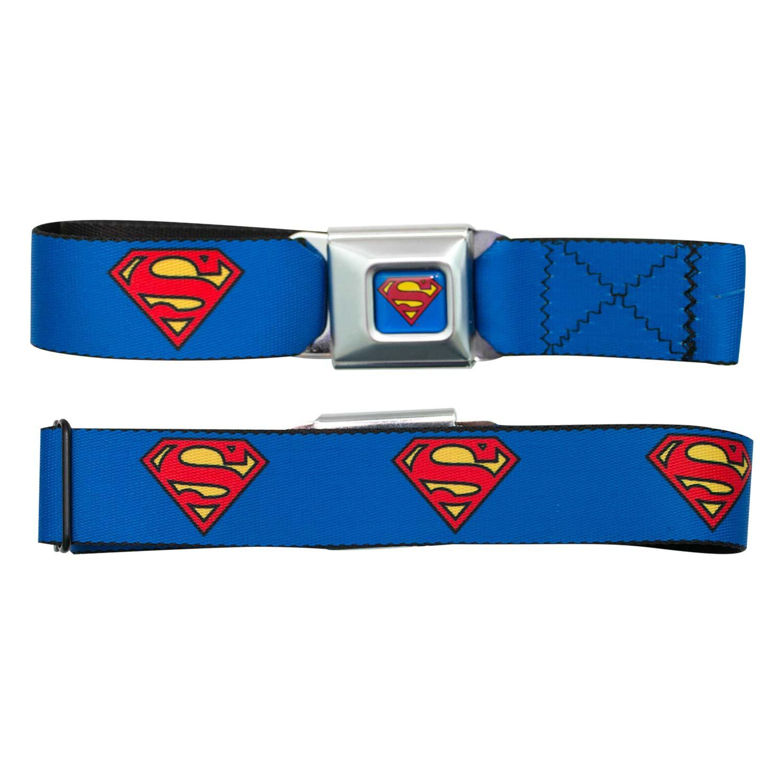 Superman Logo Seatbelt Buckle Belt