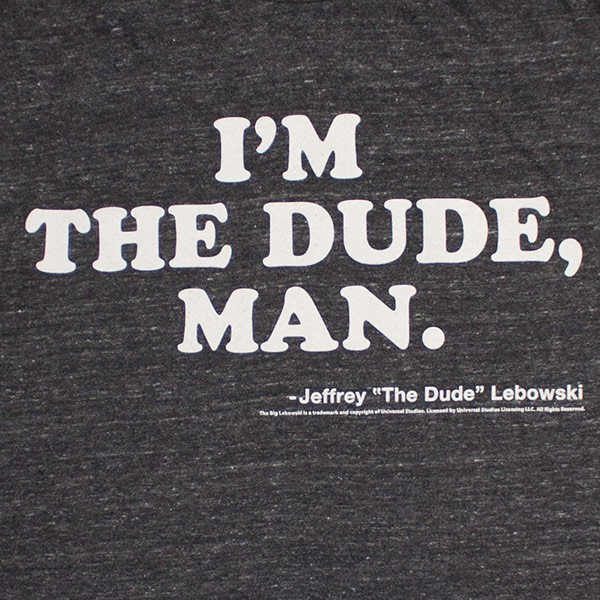 The Big Lebowski I'm The Dude Men's Charcoal T-Shirt