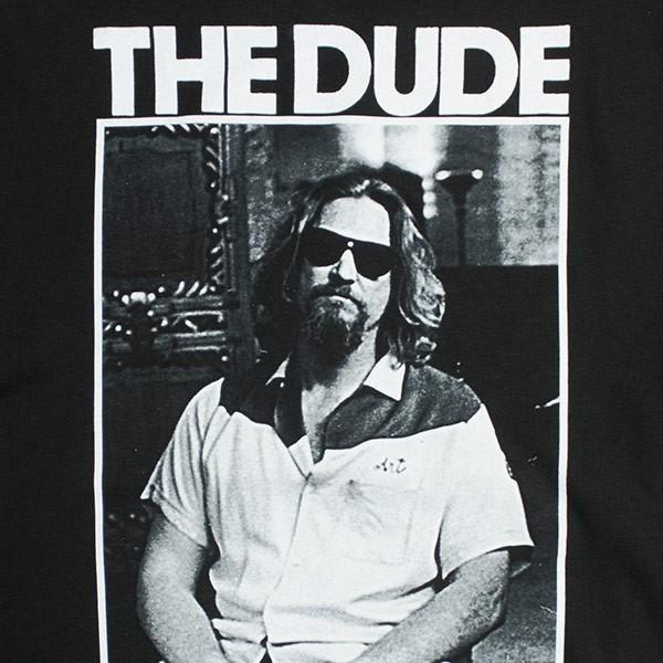 The Big Lebowski Black The Dude Photo T-Shirt