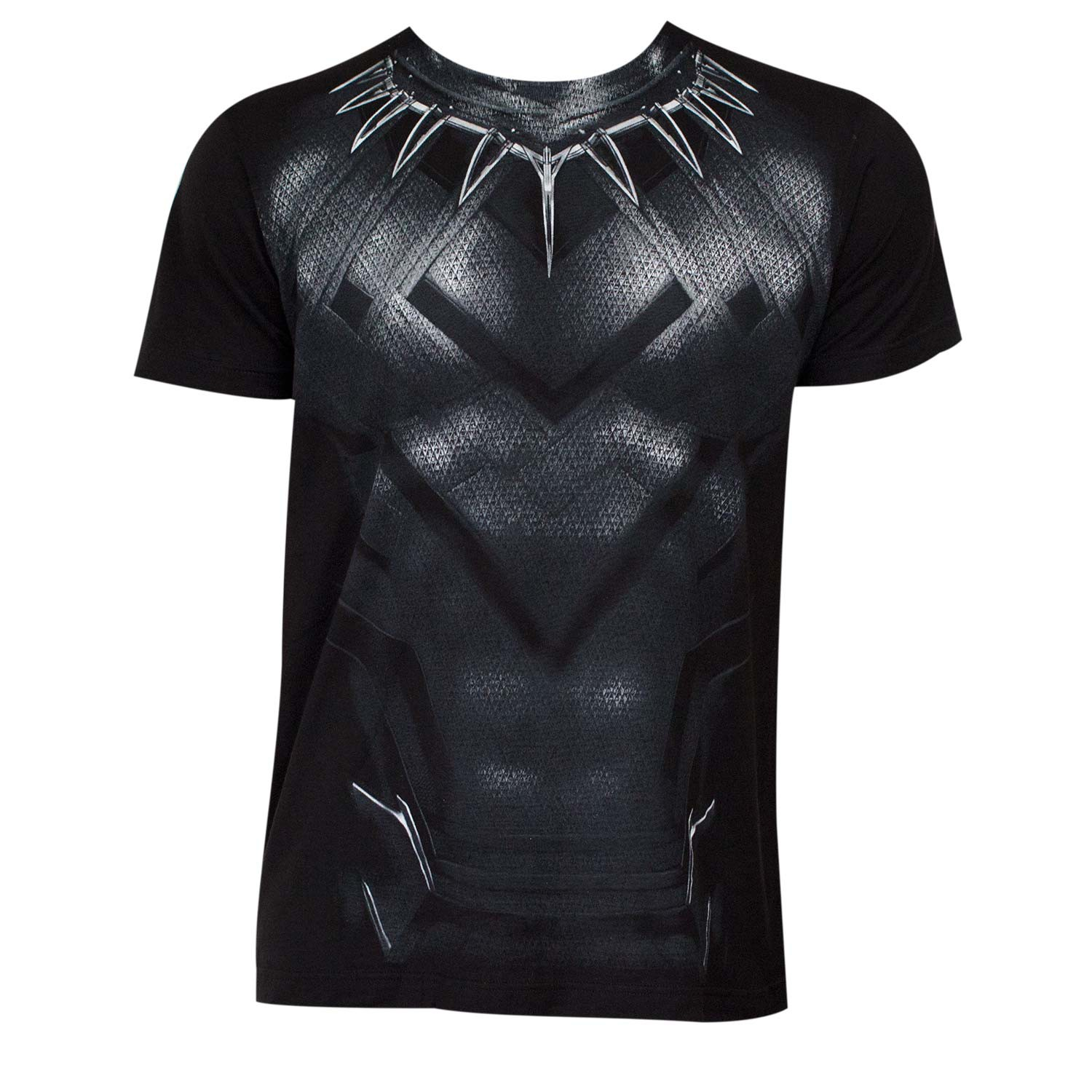 Captain America Civil War Black Panther Movie Suit Men's Costume T-Shirt