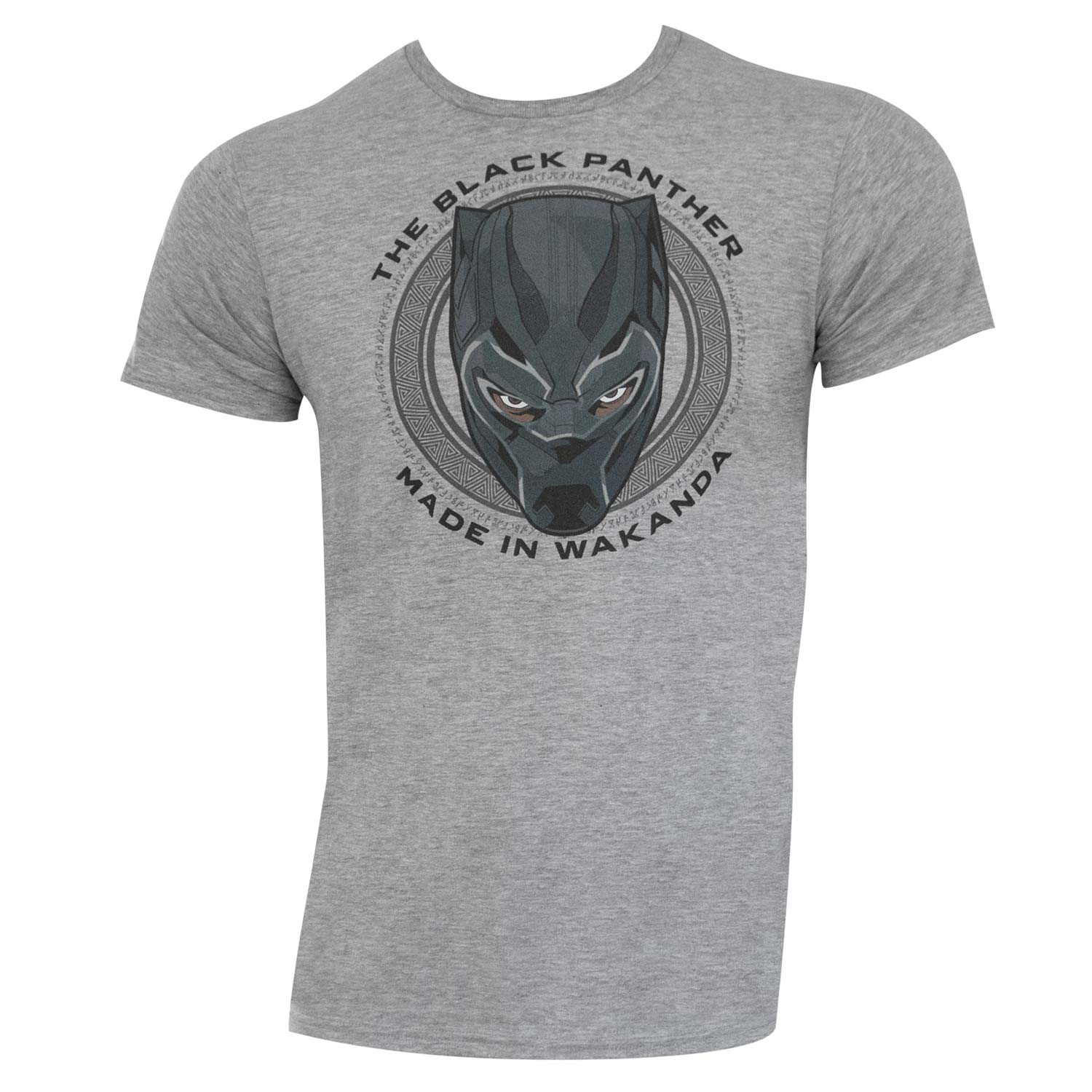 Black Panther Made In Wakanda Grey Tee Shirt