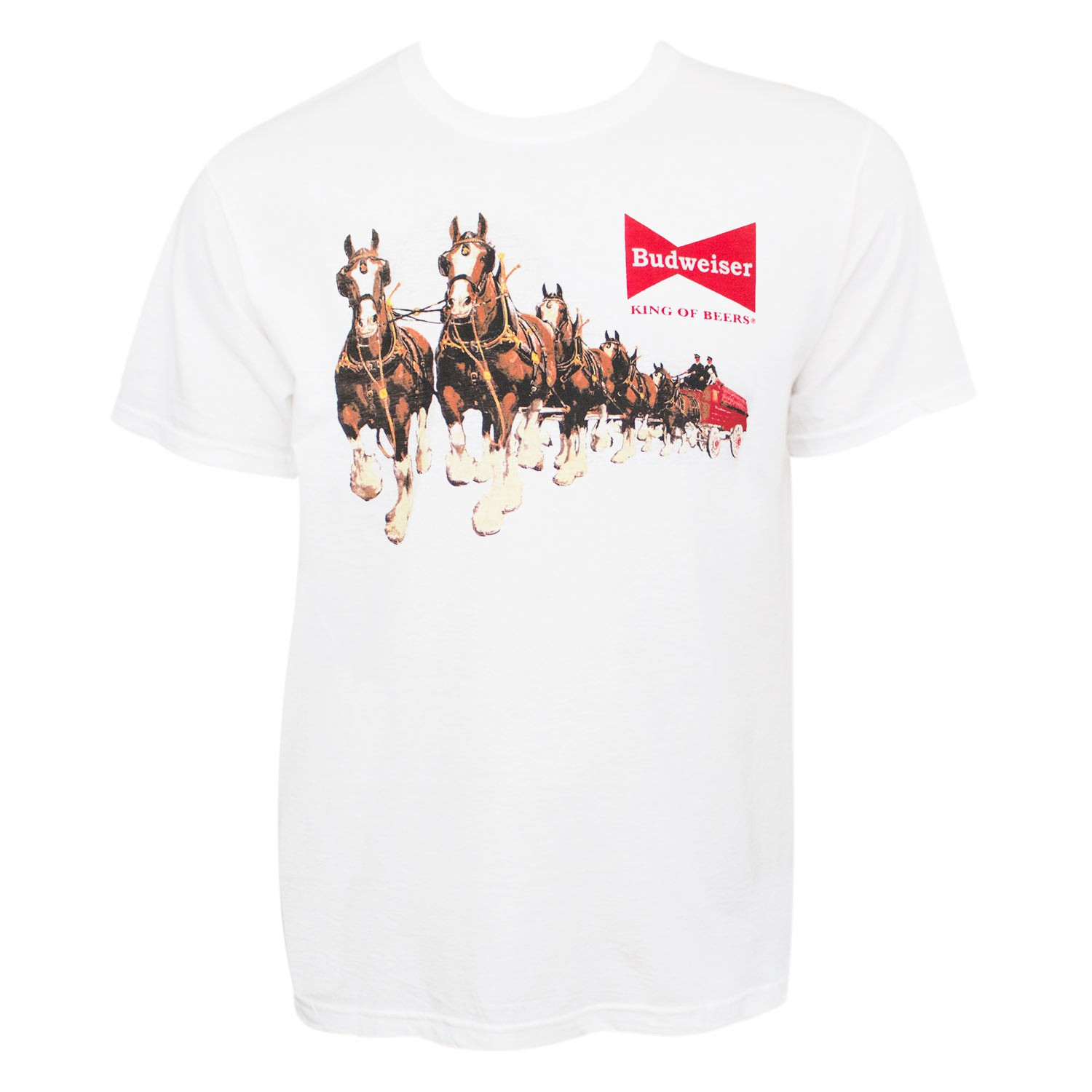 Budweiser Men's White Clydesdales T-Shirt