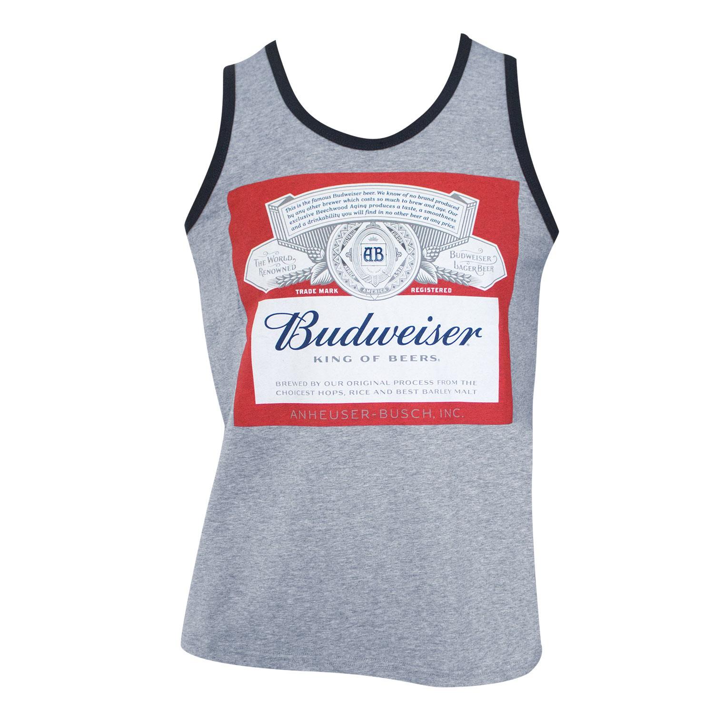 Budweiser Bottle Logo Grey Tank Top