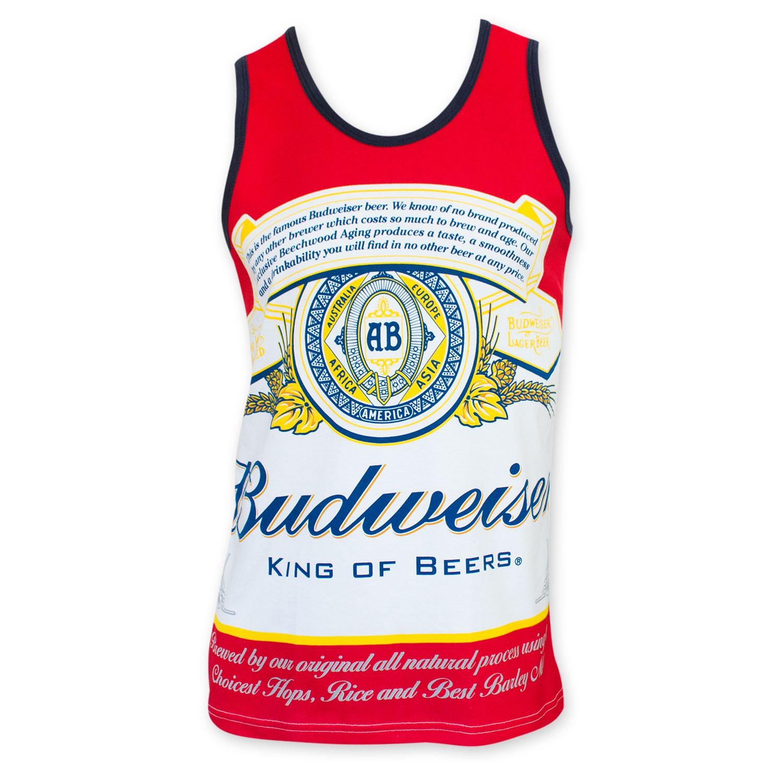 Budweiser Men's Bottle Label Tank Top